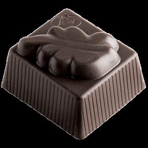 Réf 1205 Feuille Ganache mousse au chocolat