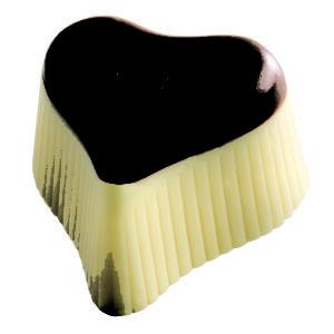 Réf 605 Coeur praliné marron glacé